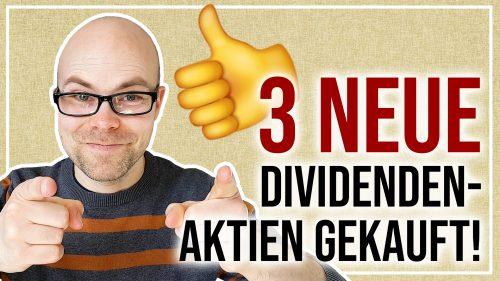 Diese 3 Dividenden-Aktien kaufe ich jetzt!
