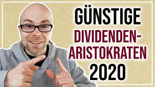 Günstige Dividenden-Aristokraten Ende März 2020