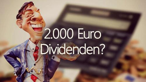 Monatlich 2000 Euro Dividenden verdienen in 30 Jahren? - So viel musst du sparen