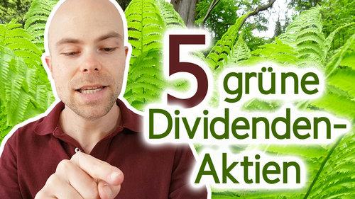 5 nachhaltige Aktien mit mehr als 3% Dividende